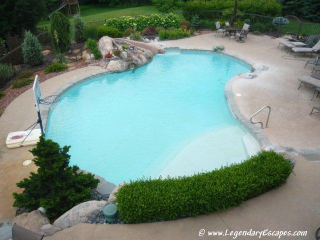 Brighton Gunite Pool with Waterfall and Retaining by Legendary Escapes (28)