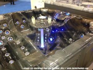lighted spa display