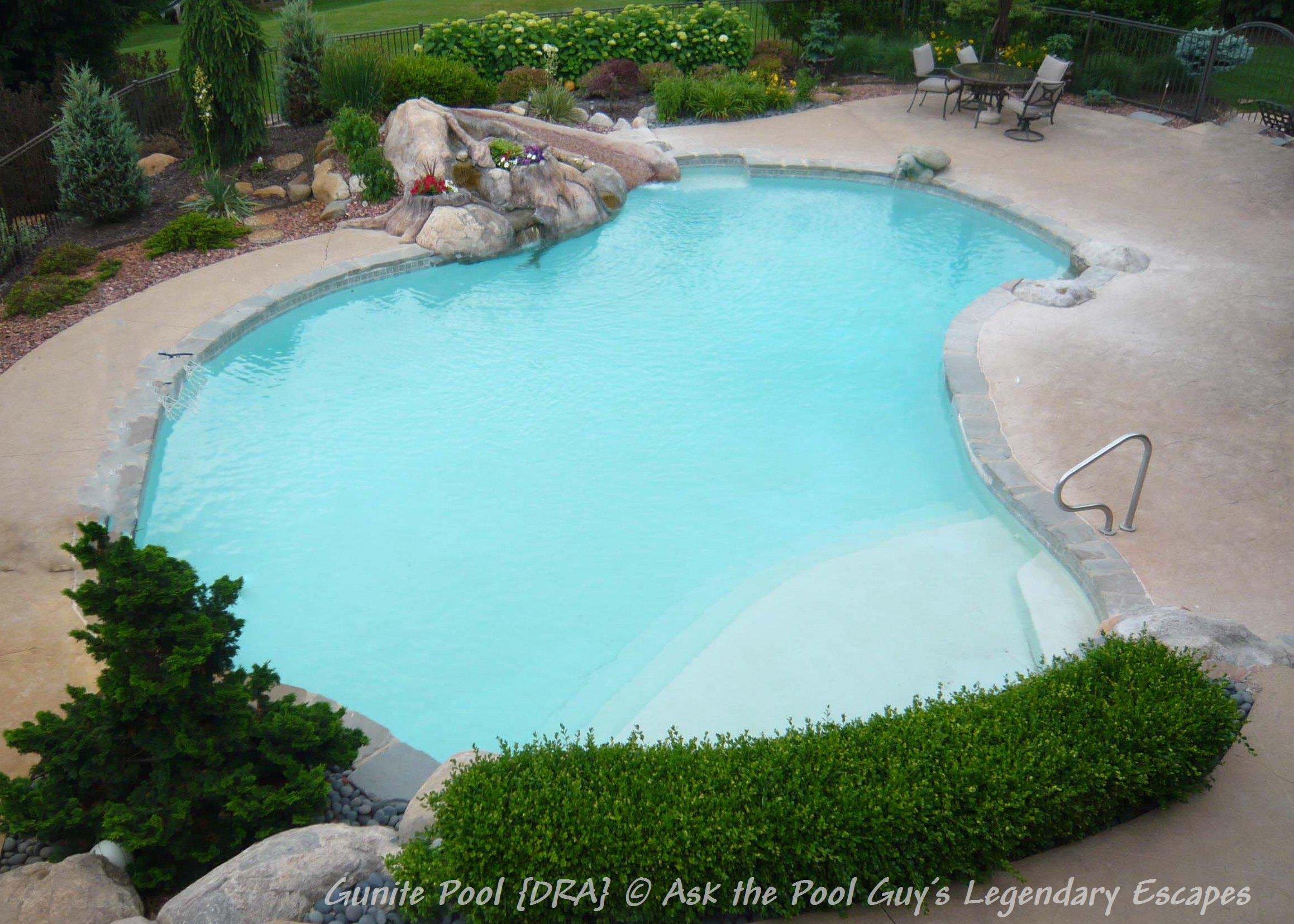 Gunite Plaster Pool Dra