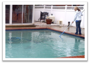 ask the pool guy vacuum your pool