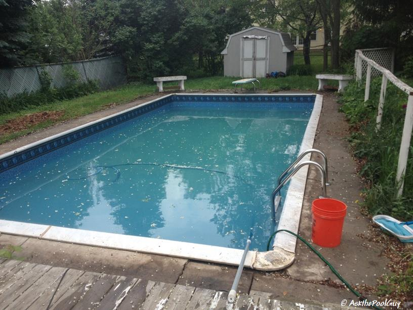 Vinyl Liner Pool Plastic Cover (1)