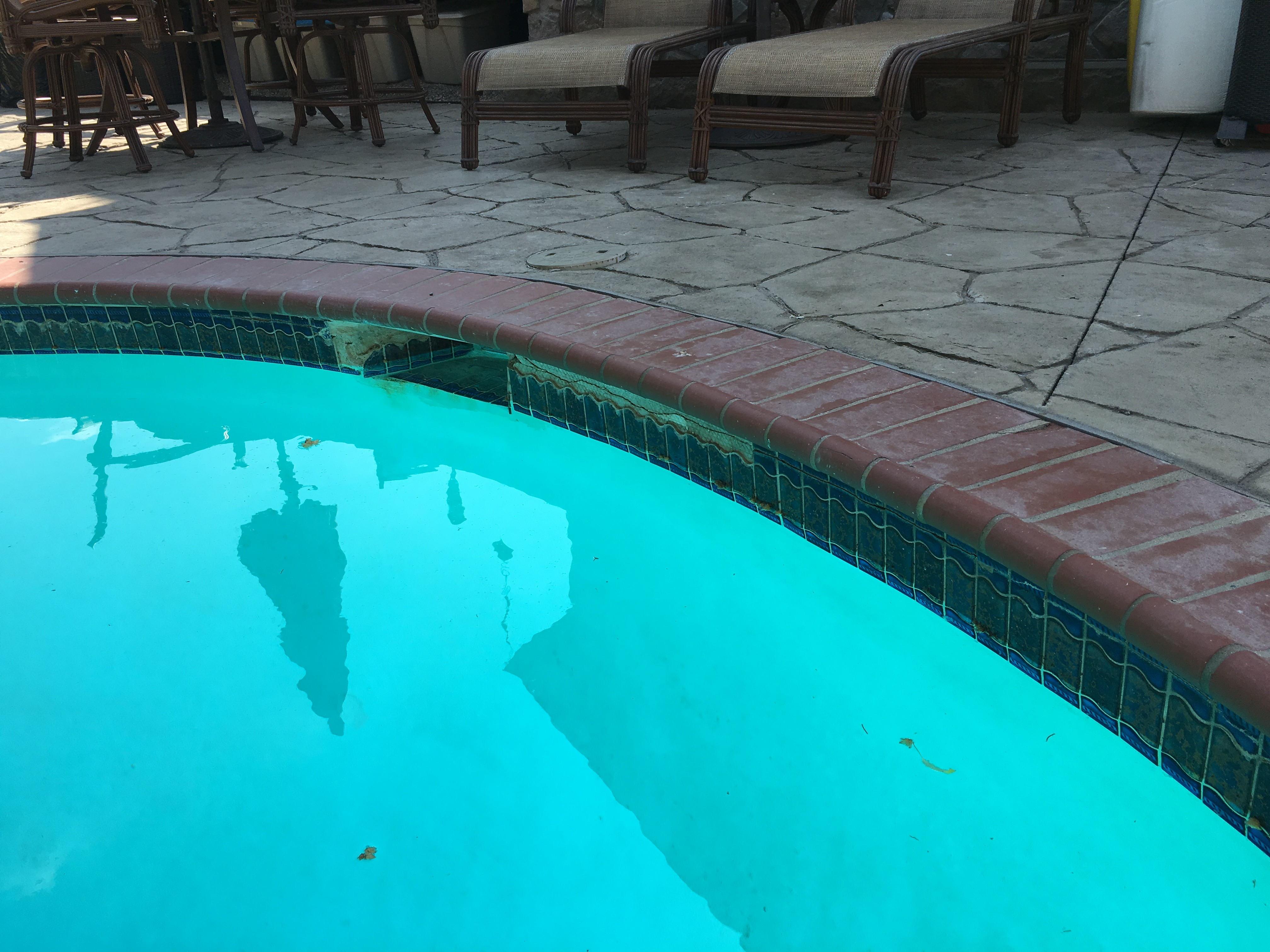 Expansion Joint Caulk On A Swimming Pool Why Ask The Pool Guy