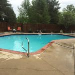 Ask the Pool Guy Backyard In-ground Swimming Pool Handrails steps