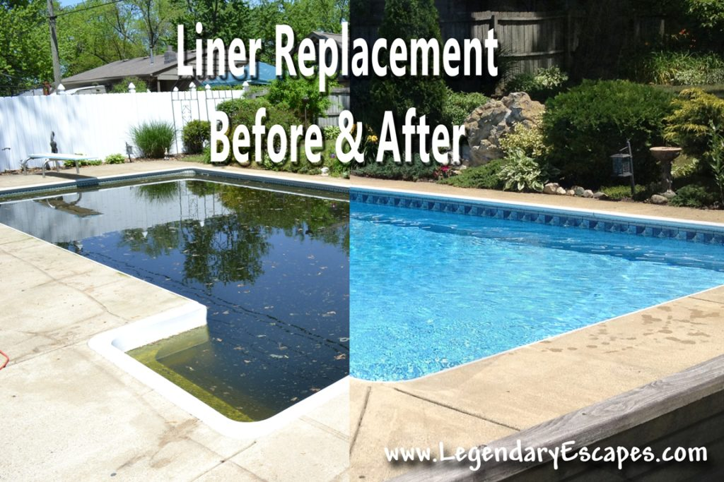 Ask the Pool Guy Liner Replacement Before and After